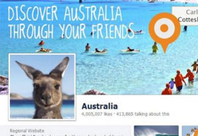 Tourism Australia's Facebook page has become a hit