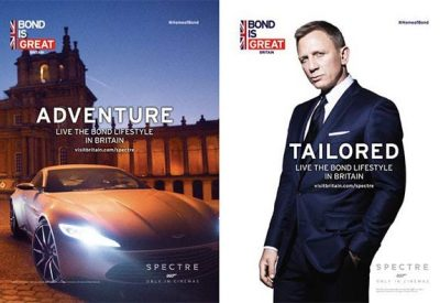 Bond is Back – VisitBritain launches Bond is GREAT campaign