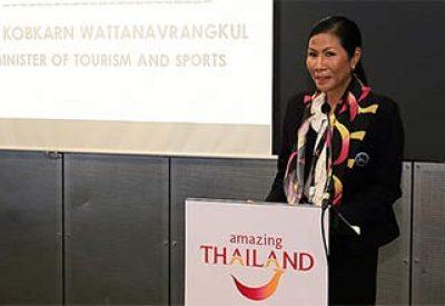 Thai tourism minister reiterates plans to position Thailand as a Quality Leisure Destination