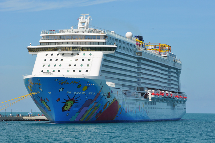 Giant new Norwegian Cruise Line ship emerges from shipyard 1